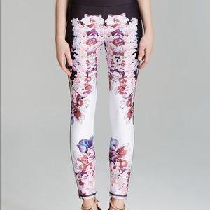 Cynthia Rowley White Pink Floral Bonded Pants {6}